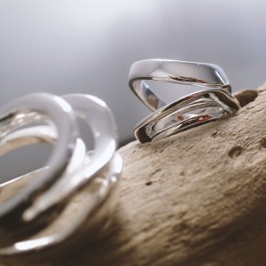 modern style silver ring